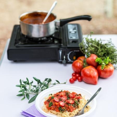 drying homemade pasta
